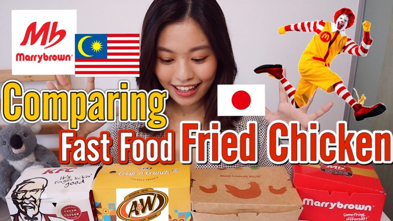 Japanese-Girl-compares-Fast-Food-Fried-Chicken-in-Malaysia